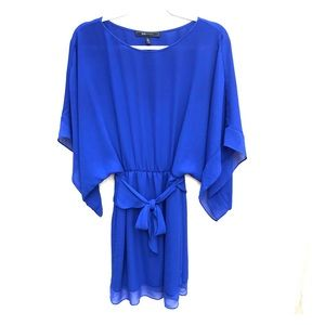 BCBGMaxAzria Lois Kimono Mini Dress Royal Blue S